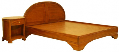 Woodcharm Art Deco bed.