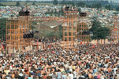 Woodstock Festival, Bethel, New York, August 15 to August 18, 1969.