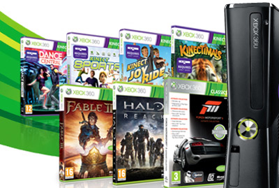 Xbox 360 and popular games.