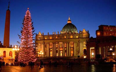 The Christmas Eve Midnight Mass at Saint Peter's Basilica.