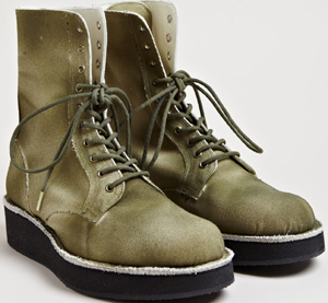 Yohji Yamamoto men's Canvas Platform Boots from SS13 collection in khaki: £874.