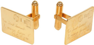 Yves Saint Laurent Stamp Embossed Metal Cufflinks: €195.