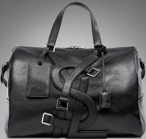 Yves Saint Laurent YSL Vavin Duffle Bag in Classic Black Leather: US$2,450.