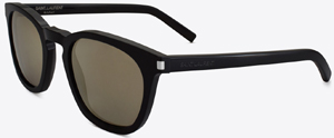 Yves Saint Laurent Classic 28 sunglasses in black acetate with grey bronze mirrored lenses men's sunglasses: US$325.