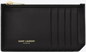 Saint Laurent Signature 4 Fragments Zipped Case in Black Leather: £170.