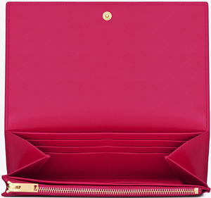 Classic Saint Laurent Paris Flap Wallet in Pink Leather: £370.