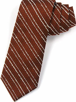 Zaharoff Bronze Silk Tie with Bouclé Yarn: US$100.