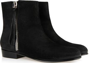 Giuseppe Zanotti Black suede calfhide ankle boot with side zips: €795.