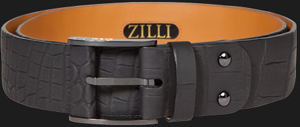 Zilli Carbon Crocodile Belt.