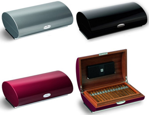 Zino Platinum Cavern GM Humidors. Capacity: 20-30 cigars. Price: US$2,714.