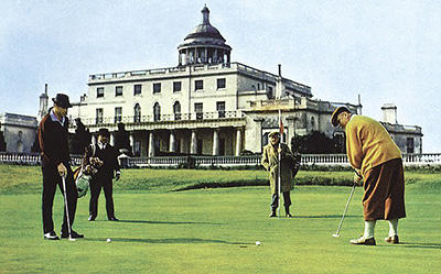 Stoke Park Hotel in Buckinghamshire was featured in the James Bond movie Goldfinger.