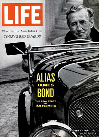 Ian Fleming on the cover of LIFE magazine, 7 October 1966.