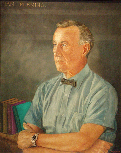 Ian Fleming portrait by Amherst Villiers painted in 1962.