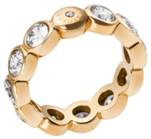 Michael Kors cubic zirconia gold tone circle ring: US$125.