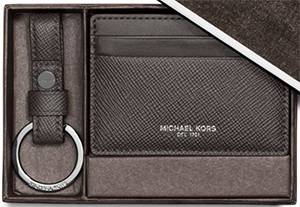 Michael Kors Keychain and Card Case Set: US$88.