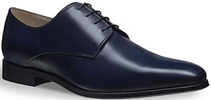 Dior Blue Leather Men's Derby Shoe.