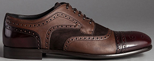 Dolce&Gabbana Vegetable Tanned Calfskin Tailored Napoli Derby Shoes: US$995.