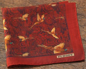 Purdey Pheasant Medallion Silk/Wool Hank: £85.