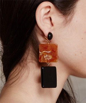 Rachel Comey Bitar Two-tiered acrylic drop earrings made in Italy: US$115.