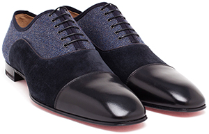 Browns Christian Louboutin Greggo Orlato Denim Derbys men's shoes: €650.