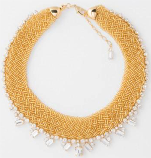 Paul Smith Women's Gold Beaded And Topaz 'Cleopatra' Necklace: €178.