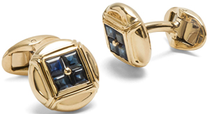 Paul Stuart 18kt Gold & Sapphire Button Cufflinks: US$5,850.