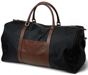 Paul Stuart Black Nylon Duffle Bag: US697.