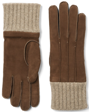 Paul Stuart Men's Nubuck Gloves with Cashmere Lining: US$267.
