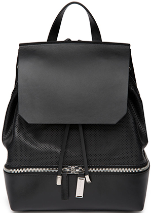 CoSTUME NATIONAL Unisex Cou-Out Leather Backpack.