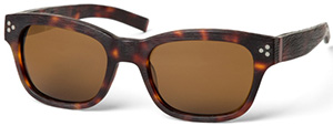 Paul Stuart tortoise shell acetate sunglasses with wood grain finish men's sunglasses: US$347.