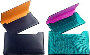 'Twin-Set' cardholder pieces designed by Maison Francis Kurkdjian for Atelier Renard.