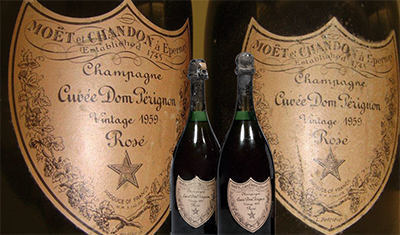 Dom Pérignon Rosé 1959 Vintage reaches a record price of US$84,700.