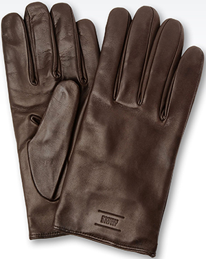 Giorgio Armani Lined Nappa Leather men's gloves.