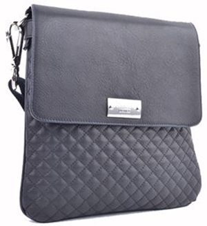 Roberto Botticelli men's black quilted leather shoulder bag: €339.