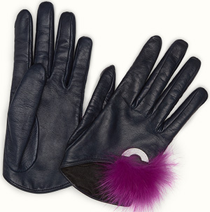 Fendi Bag Bug women's gloves.