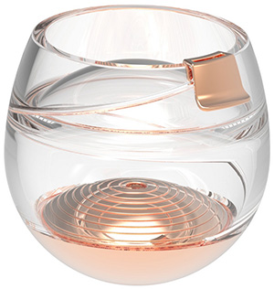 Ballentine's zero-gravity whisky glass.
