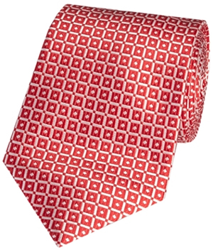 Hawes & Curtis red linked squares 100% silk woven tie: £29.