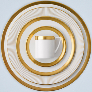 Jasper Conran at Wedgwood Gold tableware.