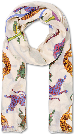 Stella McCartney Snow Drop Mixed Print Scarf.