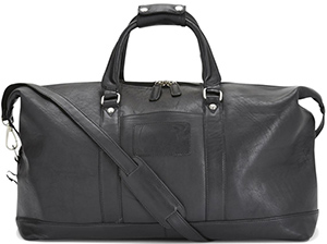 Austin Reed men's black leather holdall: £249.
