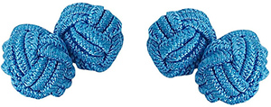 Austin Reed blue silk knot cufflinks: £4.