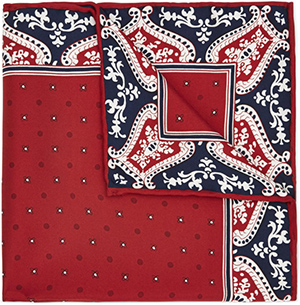 Austin Reed men's viyella geo and floral print pocket square: £25.
