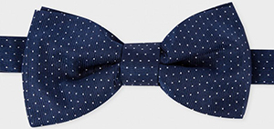 Paul Smith Men's Navy Polka Dot Silk Bow Tie: €105.