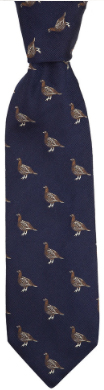 Holland & Holland Grouse Woven Silk Tie: £110.