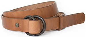 Makr Adjustable belt with D-ring closure and leather keeper: US$110.