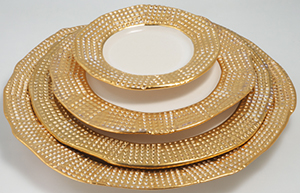 Michael Wainwright Manhattan gold 4 pc place setting.