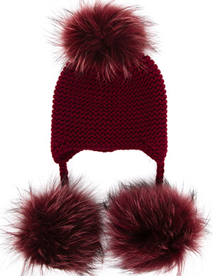 Inverni Cashmere and Fur Peruvian Beanie Hat: €495.