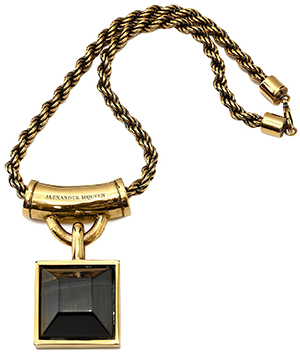 Alexander McQueen Square Enamel Women's Necklace: US$985.