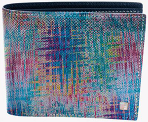 Tateossian Graffiti Wallet in Blue and a Multicoloured Pattern Leather: €335.