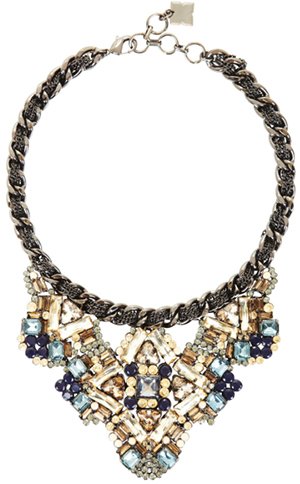 BCBGMAXAZRIA Stone Applique Chain Necklace: £112.